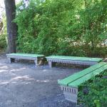 Volkspark Jungfernheide. Sitzplatz am Seeufer